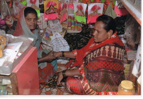 Reshma at her shop
