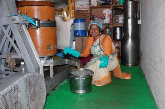 Kalpana at her business premises