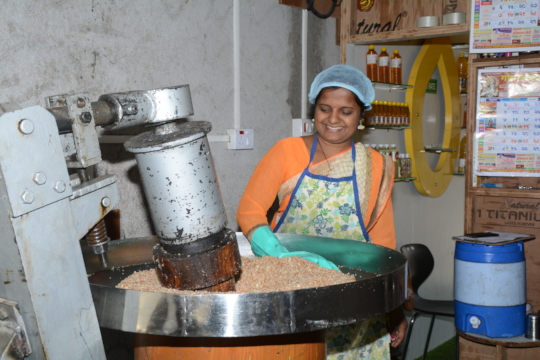 Kalpana at her office premises 1