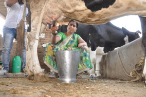 Dhanashree at her farm