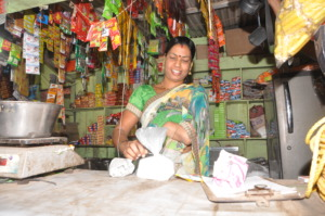Dhanashree at her grocerry shop