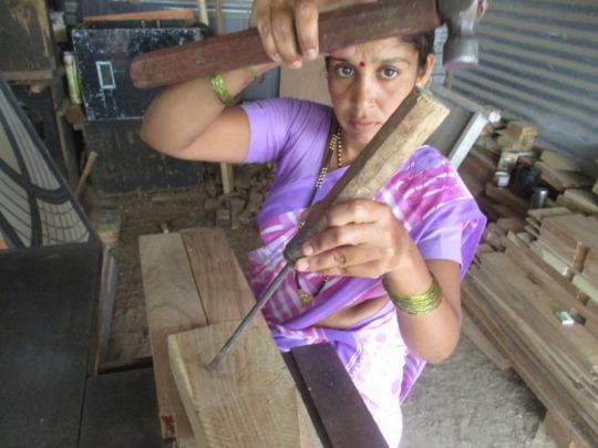 Kalpana at her shop