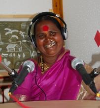 Lakshmi at Mann Deshi Community Radio station