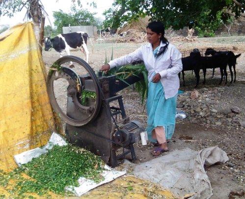 Manisha at her farm