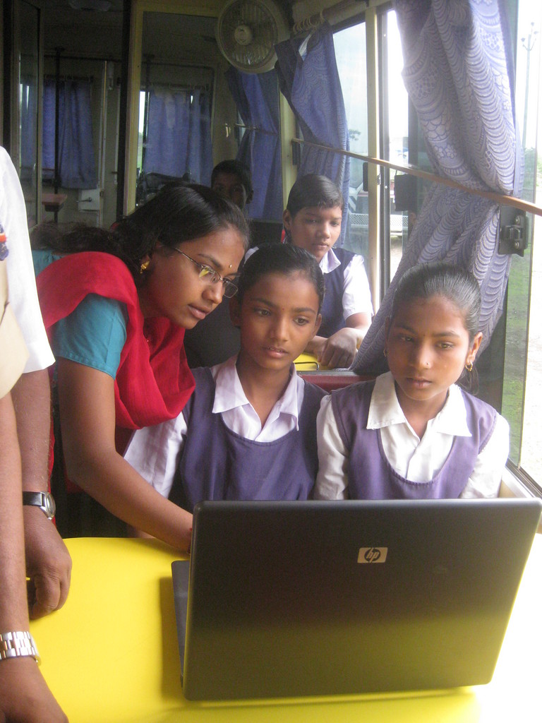 Providing computer literacy and internet training