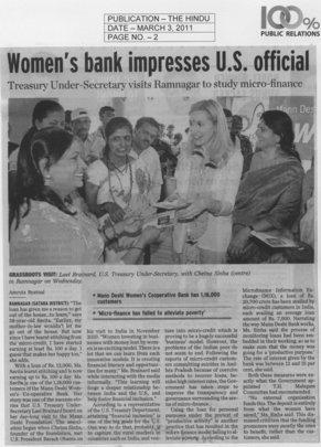 Ms. Lael distributing US financial Literacy module