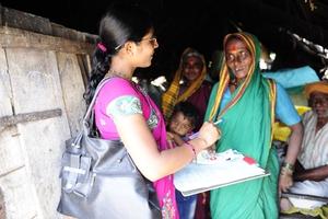 Surekha while doing survey