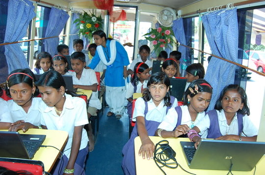 Computer Literacy through B-school on wheels