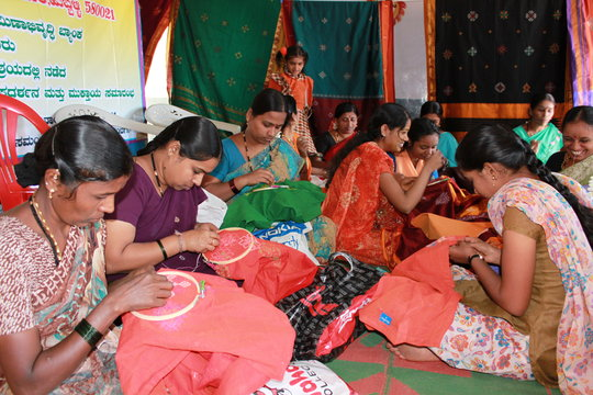 Kasuti work on readymade garments