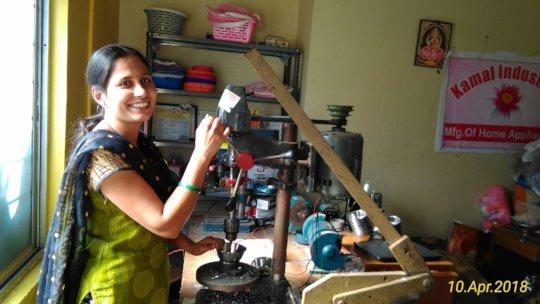 Seema at her business premises