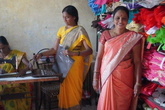 vanita at her cloth bag premises