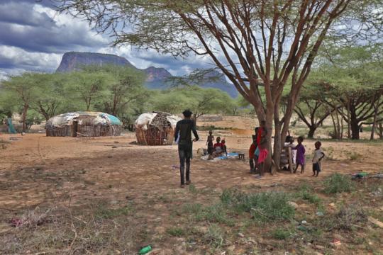 Home visits to beneficiaries in Samburu county