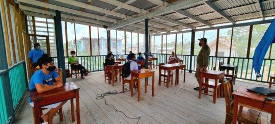Socially distanced outdoor classroom