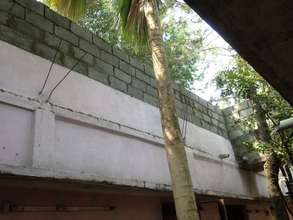 wall hight construction on the roof