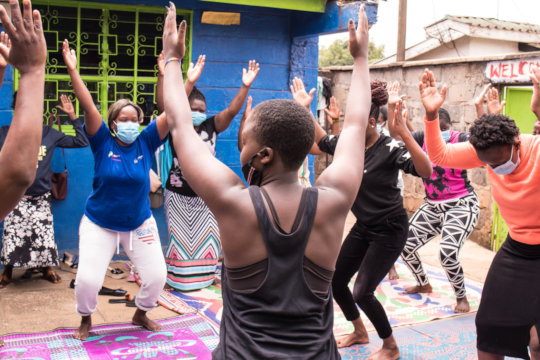 Releasing stress through yoga