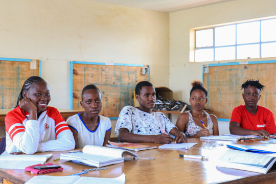 Female Fundis at their electrical repair course