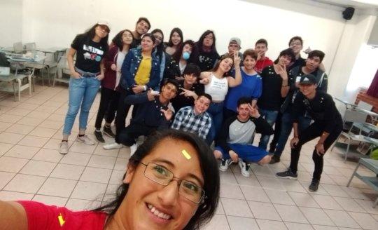 Workshop in public high schools, CDMX.