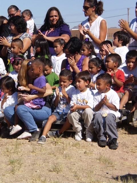 Neighborhood Children at the Groundbreaking