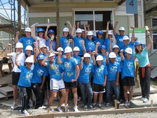 Academy students on Community Service Day