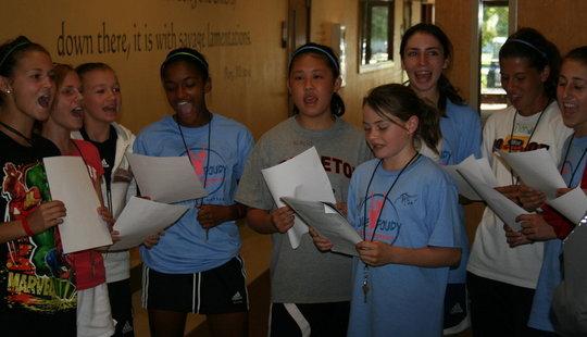 Academy students do public speaking exercises