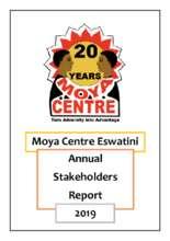 Moya Centre 2019 Stakeholders Report (PDF)