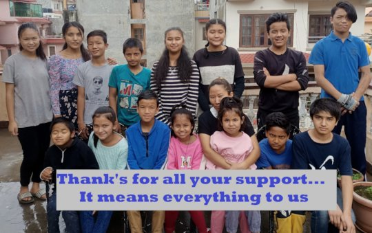Thank you from the kids in Nepal