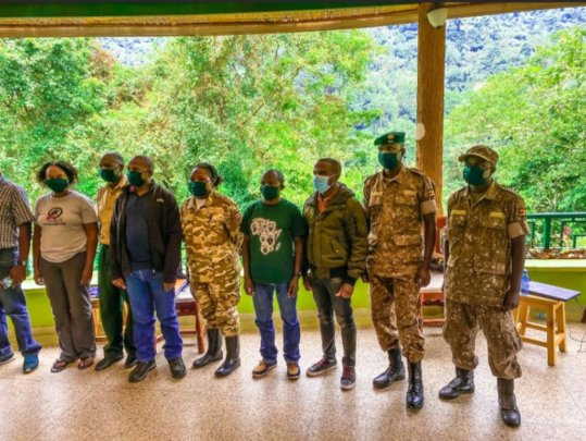Group photo after the training of park staff