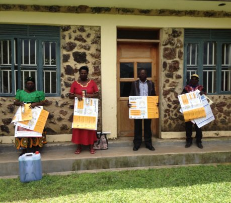 VHCT holding posters after the  training