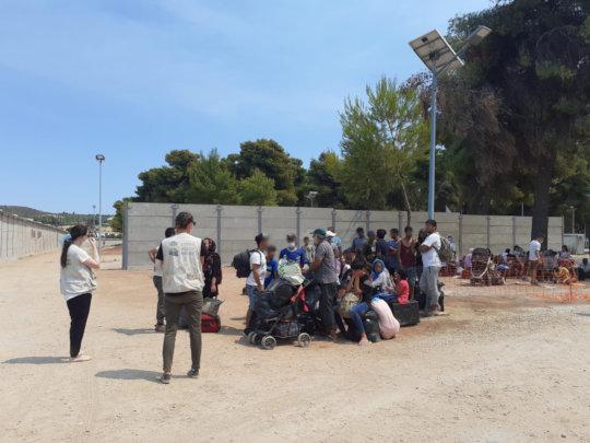 Support to Malakasa evacuees
