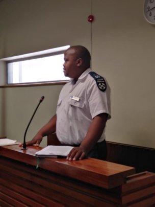 Inspector Noko in the witness box