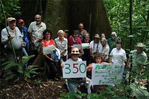 LRFF's members showing solidarity for Earth at Papa Loco's base