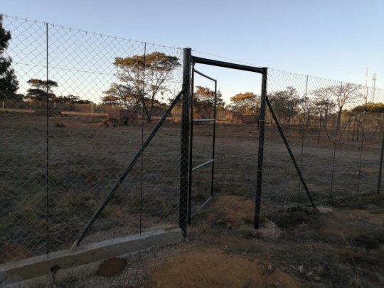 Cheetah camp gate