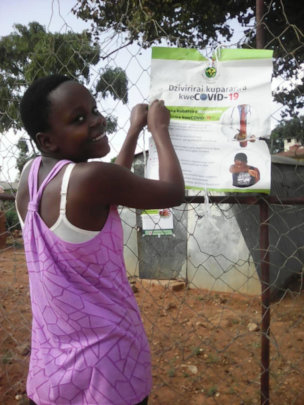 Patience raises awareness of COVID near her home
