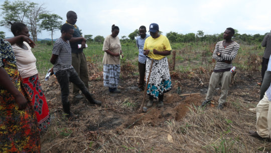 The nine lead farmers in conservation agriculture