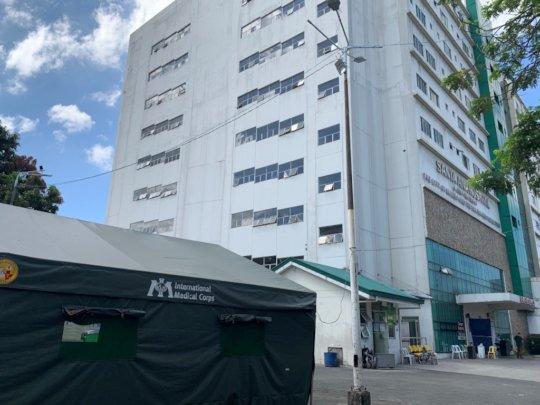 Medical Shelter deployed to Santa Ana Hospital.