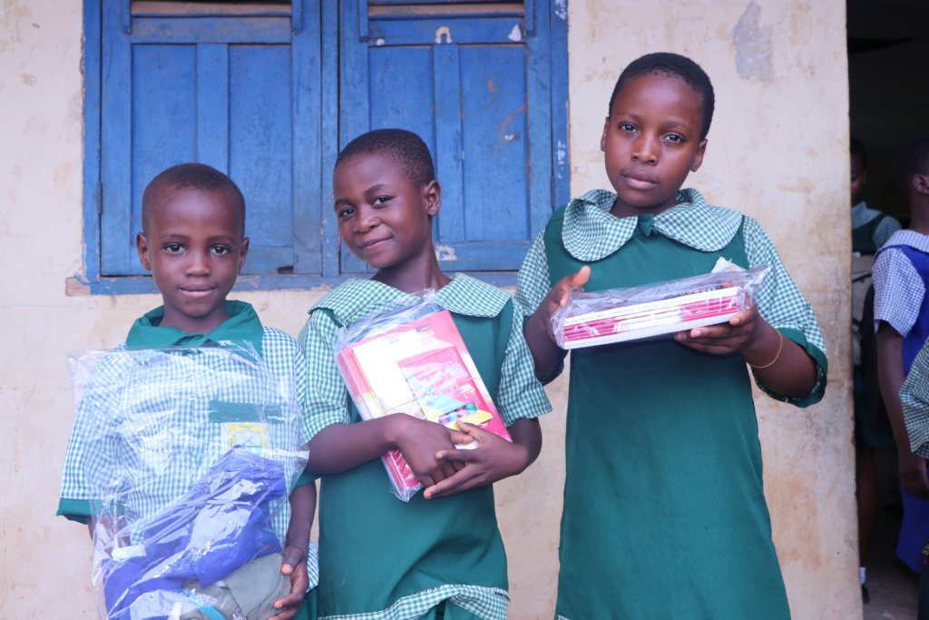 Provide 50 kids School Supplies in Benin City, NG