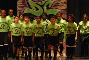 middle school Poetry Slam! performance