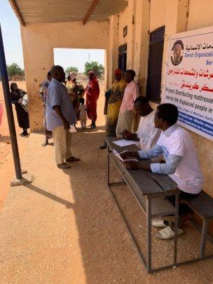DOHS members preparing to distribue aid