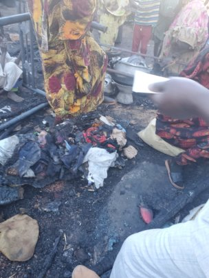 Burnt by the February 8 fire at the Ministry of Ed
