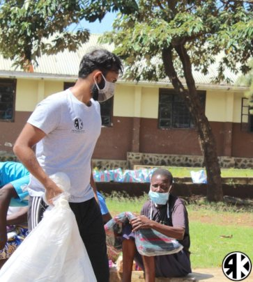 Our Co-Founder Mohit Kotak in action on the ground