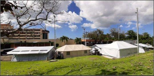 Medical shelters provide necessary extra capacity.