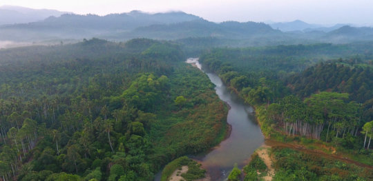 Aerial View of the Paksong Region of Thailand