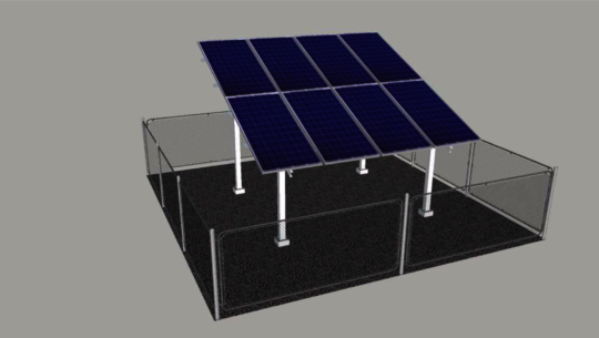 Engineers Drawing of the Solar Panels