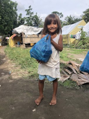 Providing food and hygiene kits
