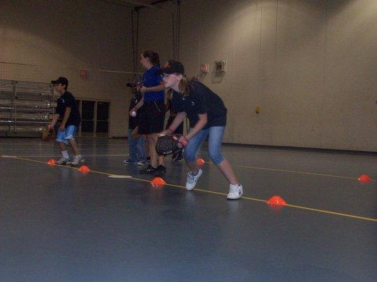 Kids worked on their fielding skills