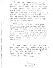 Thank you letter from Santana, 2011 camper (PDF)