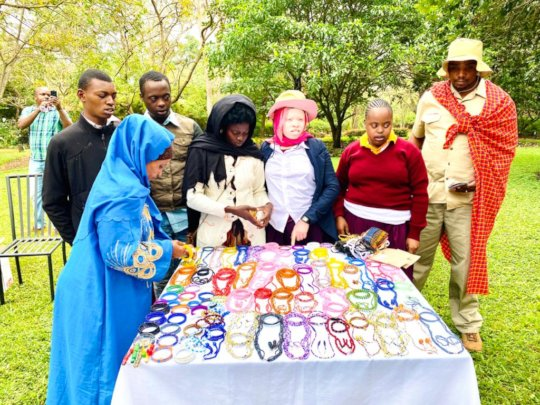 Adult Program students selling their products