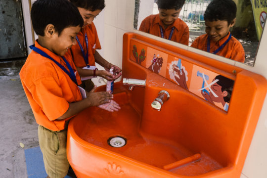 Washing hands with soap - so important!