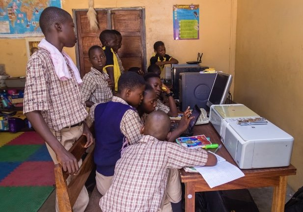 Students In The Computer Room