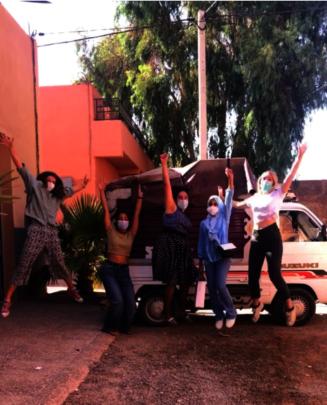 Coordinators celebrate BeGirl underwear shipment